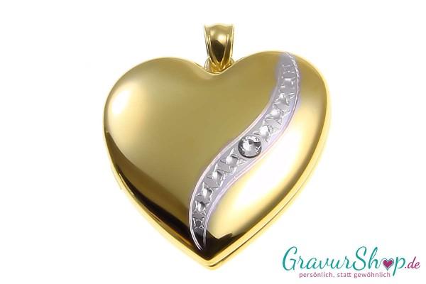 Silber Medaillon 20 mit Gravur