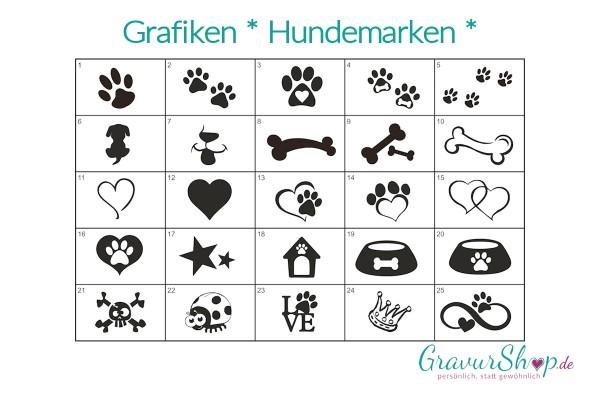 Hundemarken Grafiken zum gravieren