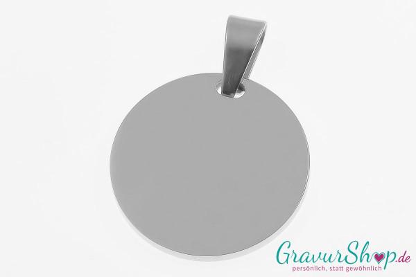 Edelstahl Anhänger 04a silber mit Gravur