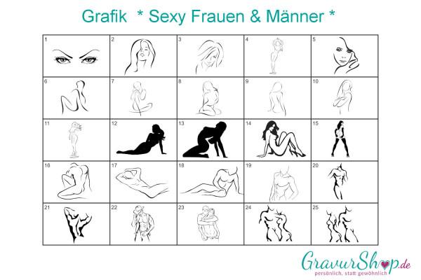 Sexy Männer & Frauen Grafiken zum gravieren