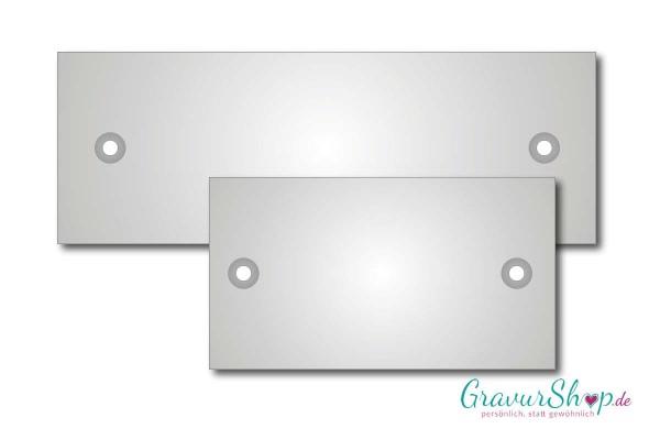 Montageplatte für Glasschilder