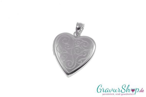 Silber Medaillon mit Gravur 04