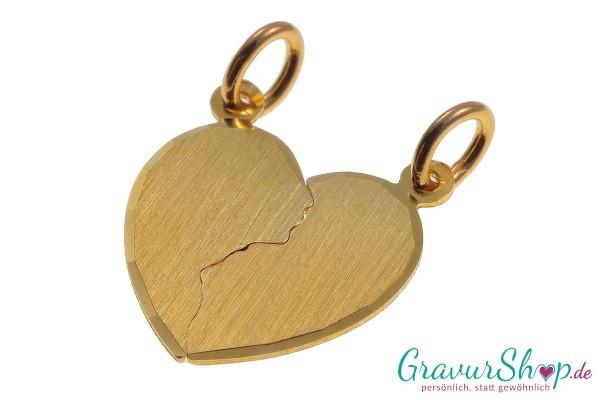 Gold Partneranhänger 01 mit Gravur
