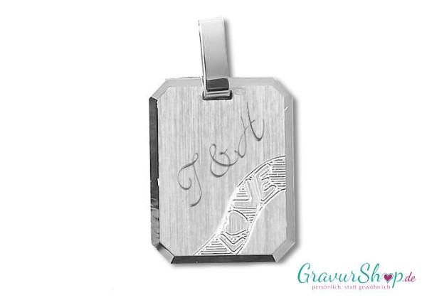 Silberanhänger 34 mit Gravur