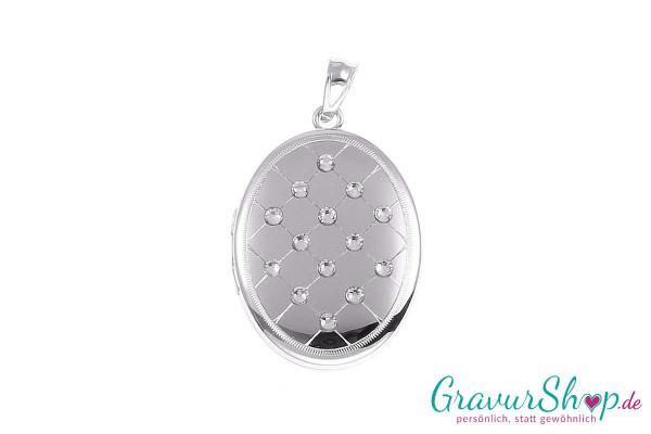 Silber Medaillon mit Gravur 15a