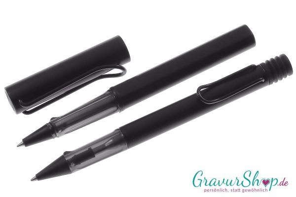 LAMY AL star Schreibset Kuli-Tintenroller black mit Gravur