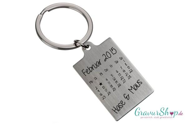 Schlüsselanhänger Nr 56 mit Gravur Kalender C