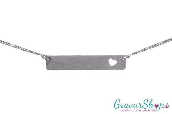 Silberanhänger 09 B mit Gravur