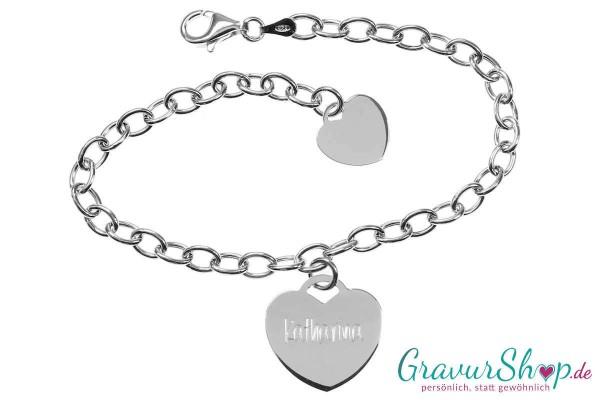 Charm Armband mit Gravur 01