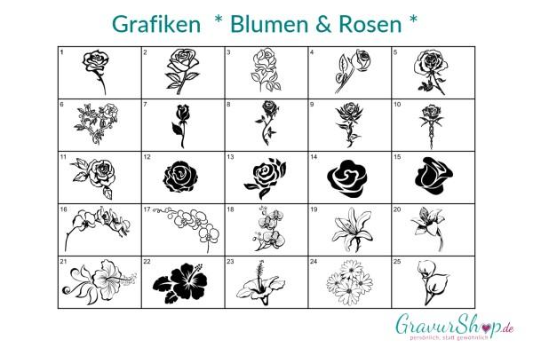 Grafik - Rosen u. Blumen