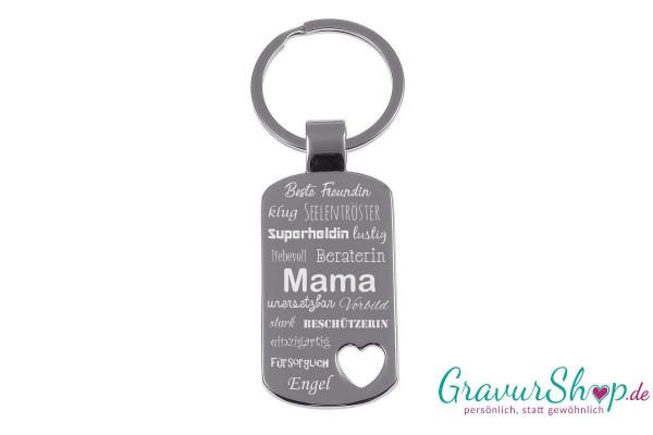 Schlüsselanhänger 20 mit Gravur Mama Engel
