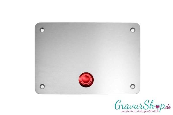 Edelstahl Klingelschild - 100 x 70 red