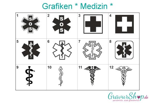 Medizin Grafiken zum gravieren