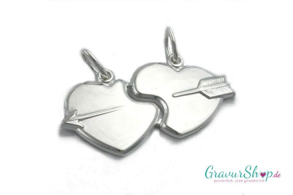 Silber Partneranhänger 06 mit Gravur