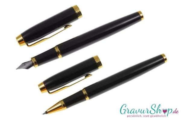 IM Parker Füller-Tintenroller schwarz-gold