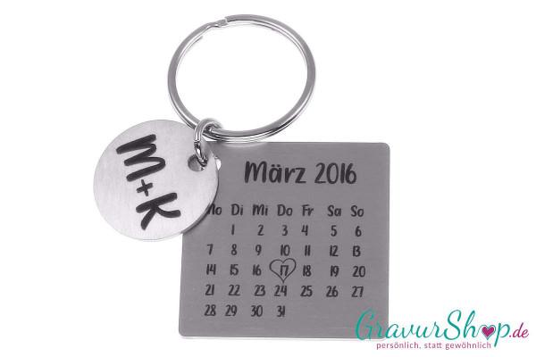 Schlüsselanhänger 63 Kalender mit Gravur