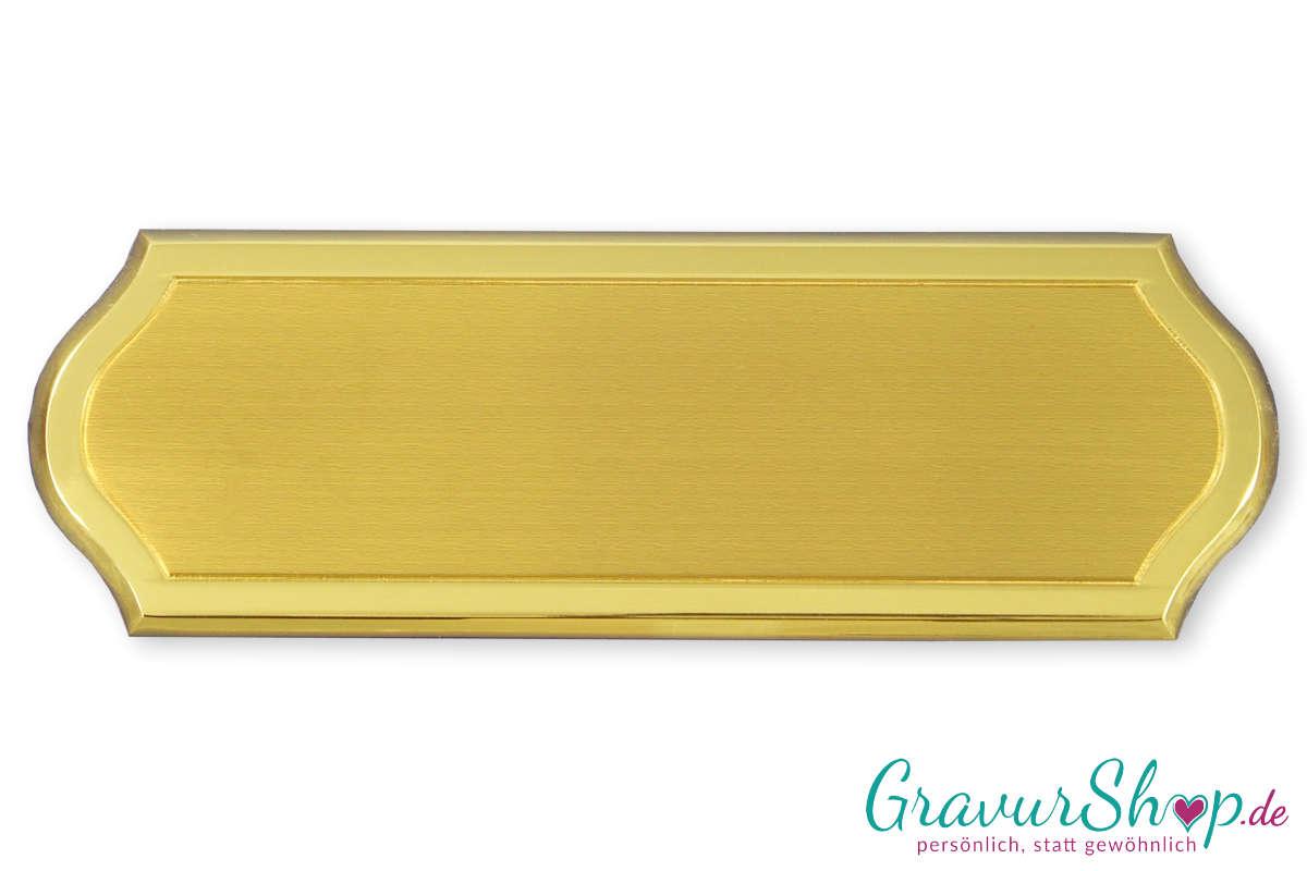 Messingschild 150 x 50 mm selbstklebend inkl. Gravur | GravurShop