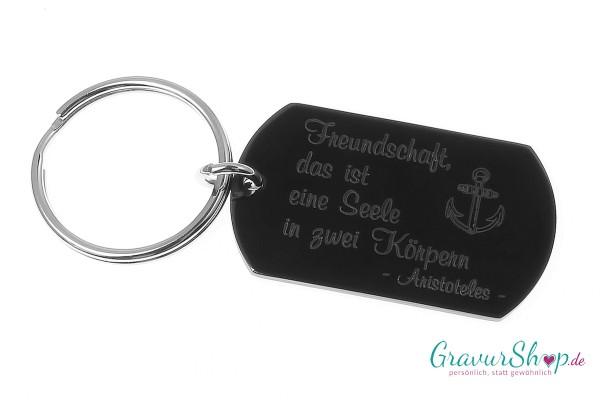Schlüsselanhänger Nr. 16 D mit Gravur