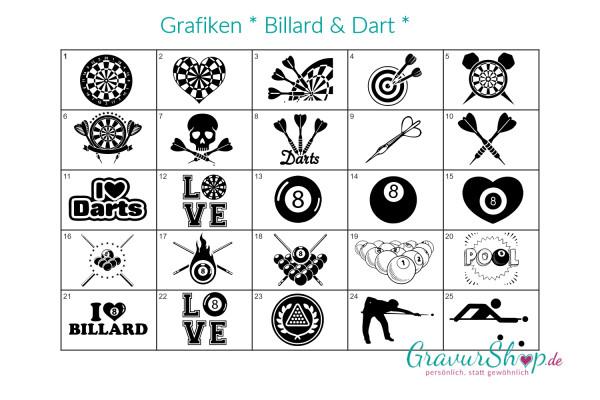 Billard und Dart Grafiken vom GravurShop