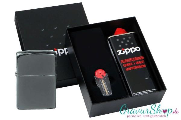 Zippo Geschenk Set mit Zippo Black Ice
