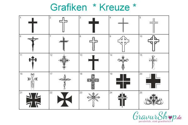 Kreuz Grafiken zum gravieren