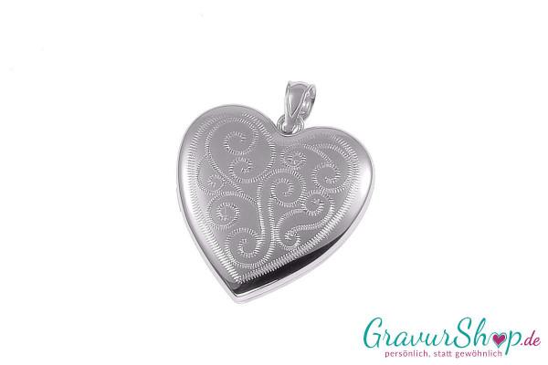 Silber Medaillon mit Gravur 03