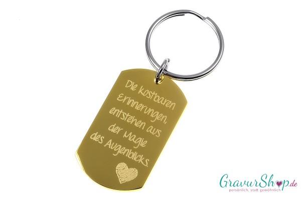 Schlüsselanhänger 16 * Gold