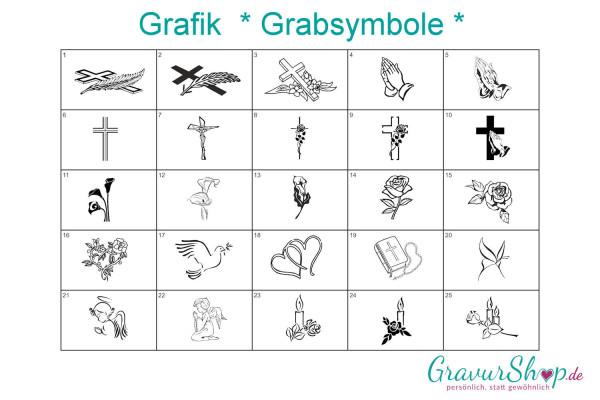 Grabsymbole zum gravieren