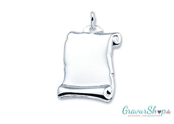 Silberanhänger mit Gravur 02