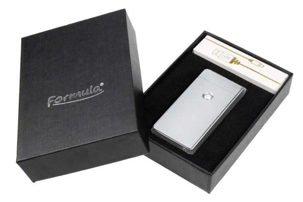 USB Glühspirale Feuerzeug silber mit Gravur