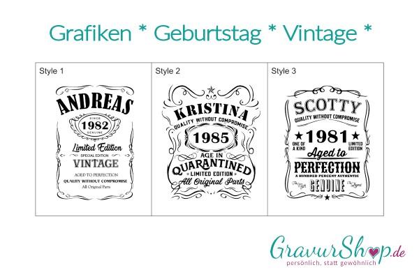 Grafiken Geburtstag Vintage Limited Edition