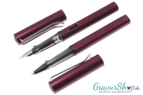 LAMY AL star Schreibset Füller-Tintenroller purple mit Gravur
