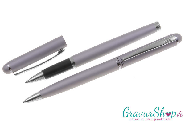 Schreibset 09 mit Gravur, Kugelschreiber und Rollerball