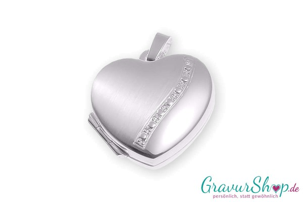 Silber Medaillon 08 mit Gravur