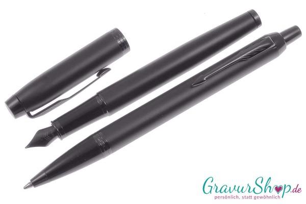 Parker-IM-Kugelschreibe-Füller chromatique schwarz mit Gravur