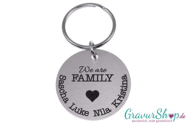 Schlüsselanhänger 61 We are Family