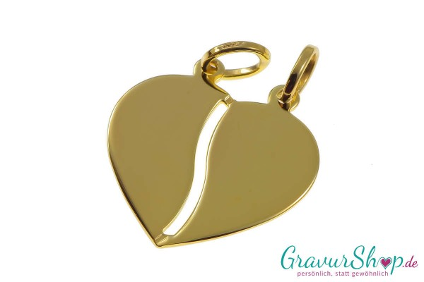 Gold Partneranhänger 05 mit Gravur