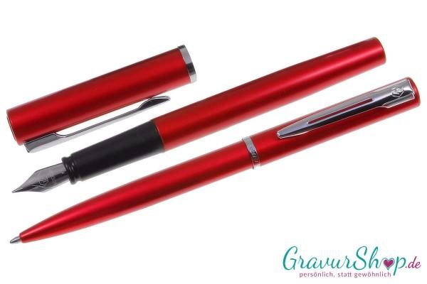 Schreibset 24 Rot mit Gravur