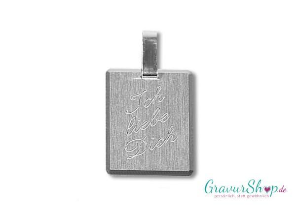 Silberanhänger 33 mit Gravur