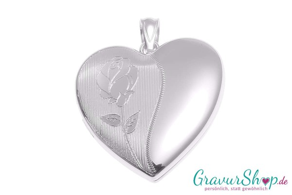 Silber Medaillon 18 mit Gravur