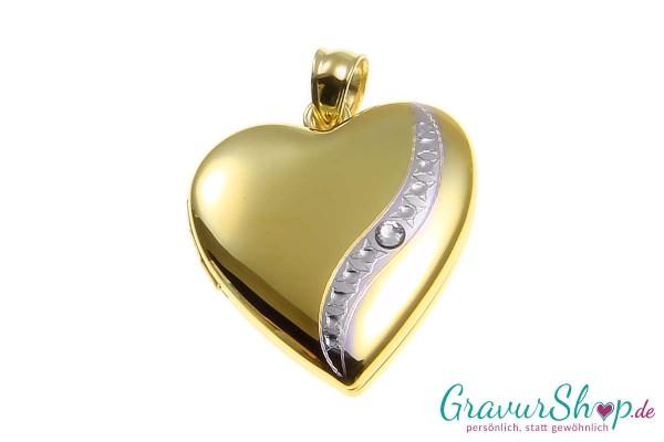 Silber Medaillon 19 mit Gravur