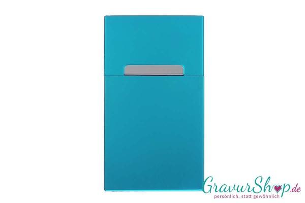Zigarettenbox aus Aluminium mit Gravur