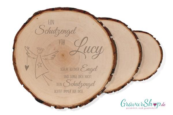 Baumscheibe Schutzengel mit Gravur