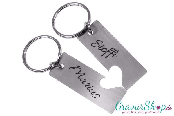 Partner Schlüsselanhänger mit Gravur