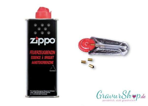 Zippo Set - Benzin + Feuersteine