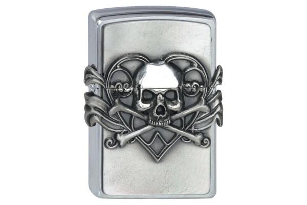 Skull with Heart Emblem