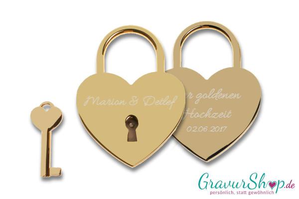 Herz Liebesschloss Nr. 07 gold