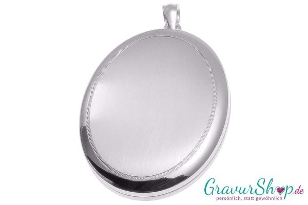 Silber Medaillon 26 mit Gravur