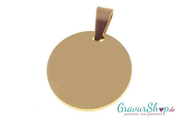 Edelstahl Anhänger 04c gold mit Gravur