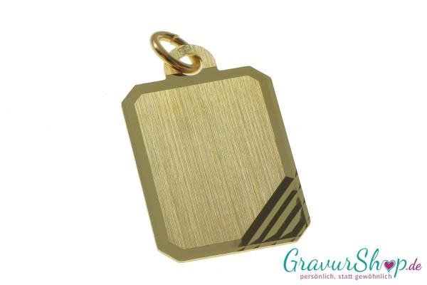 Goldanhänger 09 mit Gravur